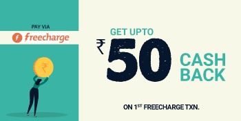Valid On First Freecharge Txn. On MOJO Pizza