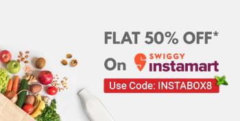 Use Code: INSTABOX8 on the SWIGGY App